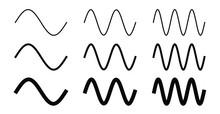 Simple Sine Wave Drawing. One,...