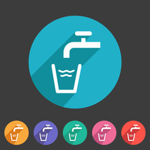 Drinking Water Point Tap Icon ...