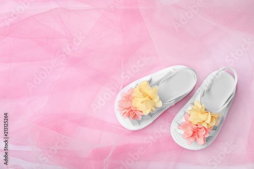 View Pair This Sandals Stock Color Cute Baby On Of Buy FabricTop I76gYfbvy