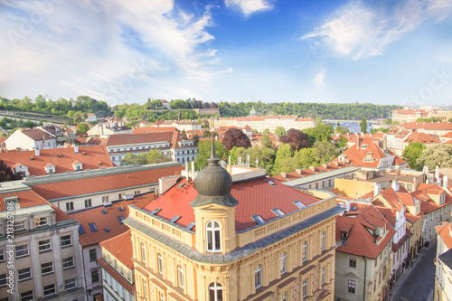 Beautiful view of Hradcany, Prague's historic district, Czech Republic Poster