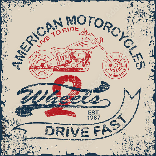 Photographie American Motorcycle Emblem