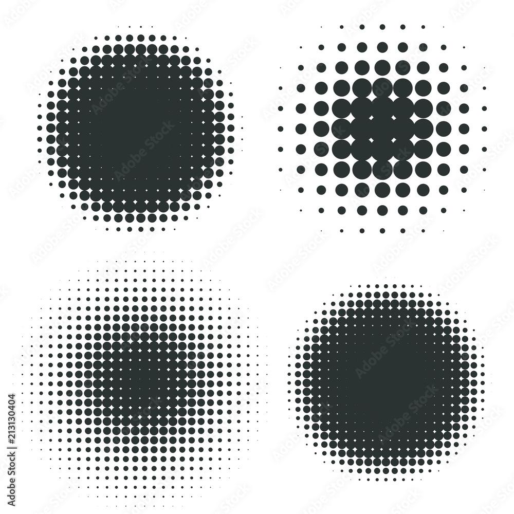 Fototapeta Abstract Halftone Backgrounds. Vector Set
