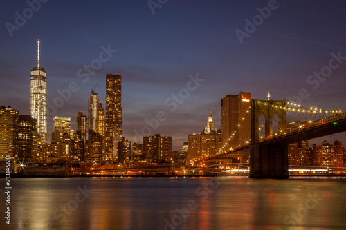 Fotografia, Obraz  Brooklyn Bridge and Manhattan skyline