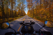 Motorcycle Driving POV In Road