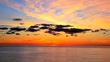 Beautiful sunset at sea time lapse