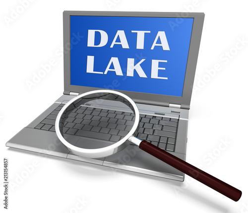 Photo Data Lake Digital Datacenter Cloud 3d Rendering