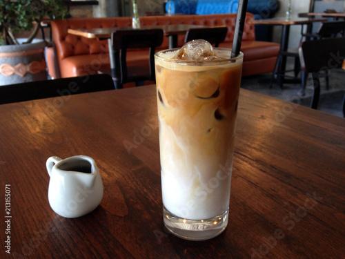 Fotografie, Obraz  A cup of ice cafe latte served cold