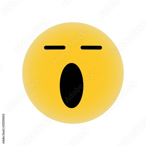 Singing emoji vector icon  Simple element illustration