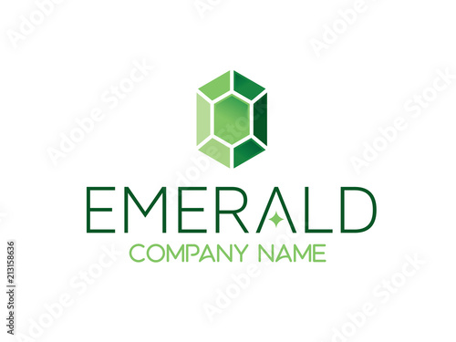 emerald logo Wallpaper Mural