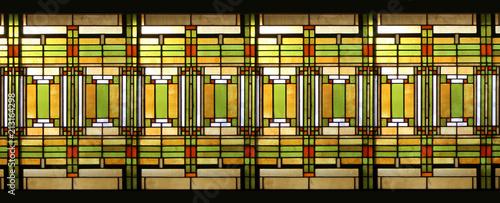 Fotografie, Obraz Prairie style stained glass / Vitrail style prairie