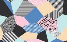 Abstract Patchwork Pattern Bac...