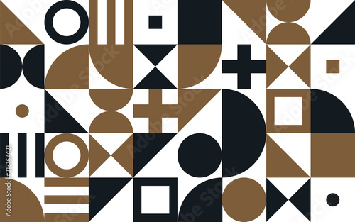 Photo Bauhaus art vector pattern background of geometric shapes and simple elements
