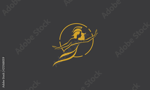 Photo athena health woman logo icon vector