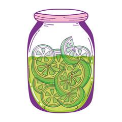 mason jar with cucumbers organic preserve