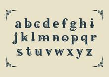 Vector Decorative Alphabet. Se...