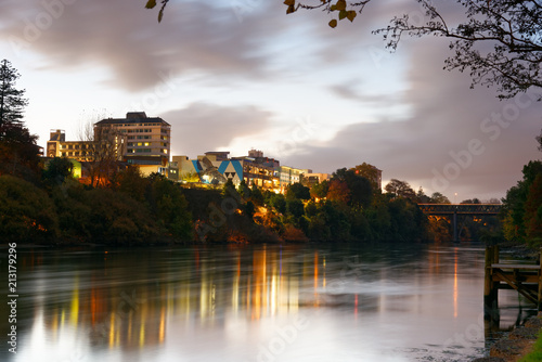 Central Hamilton viewed from the Waikato River Canvas Print