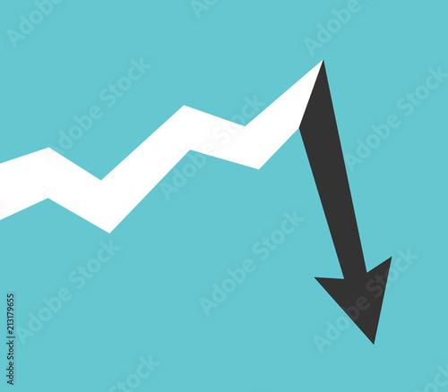 Photo Long growth, abrupt drop