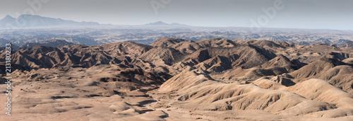 Deurstickers Zalm View of Desert Landscape Moon landscape Namibia