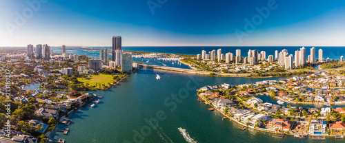 Aerial view of Surfers Paradise and Southport on the Gold Coast, Canvas-taulu