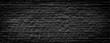 Black brick wall panoramic background