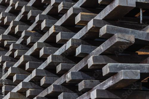 Türaufkleber Metall Stack of lumber