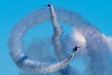 Blue Sky And Aerobatics Flying...