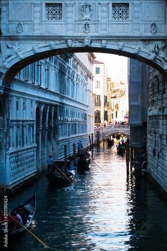 Plakat Wenecja latem, gondole