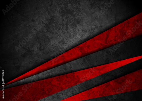 Plakaty czerwone  grunge-tech-material-red-and-black-background
