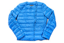 A Blue Cotton Sports Coat Isol...