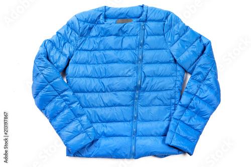 Fotografie, Obraz A blue cotton sports coat isolated on white background.