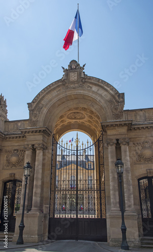 Obraz na plátně Grille d'entrée du palais de l'Elysée