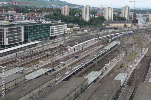 Fotobehang Treinstation Stuttgart, Bahnhof