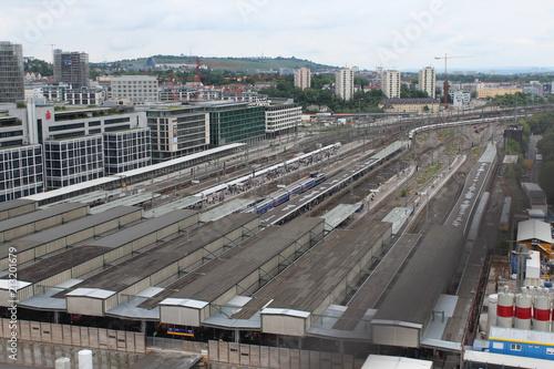 In de dag Treinstation Stuttgart, Bahnhof