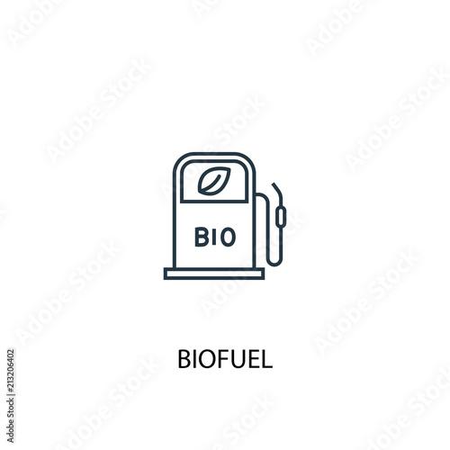 Biofuel concept line icon. Simple element illustration Wallpaper Mural