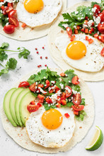 Flatbread With Avocado, Egg An...