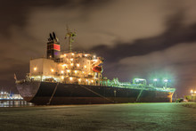 Massive Moored Oil Tanker At N...
