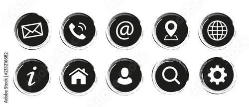Fototapeta Web Kontakt Symbole obraz na płótnie