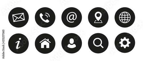 Fototapeta Web Kontakt Symbole