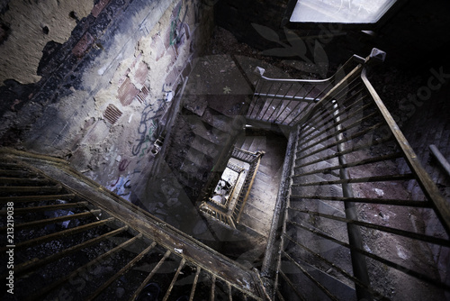 Photo abandoned psychiatric hospital