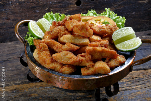 Poster de jardin Buffet, Bar Breaded fried fish