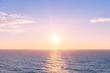 canvas print picture - Sonnenuntergang auf dem Meer