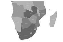 Political Map Of Southern Afri...