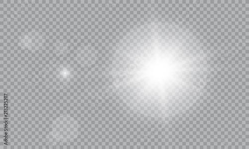 Obraz Glow light effect. Vector illustration. Christmas flash Concept. - fototapety do salonu
