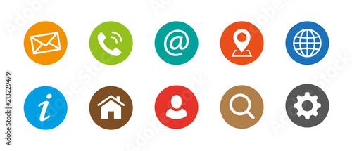 Obraz Web Kontakt Symbole - fototapety do salonu