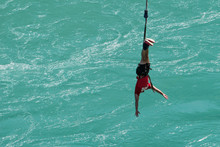 Sequence Of A Young Lady Bungy...