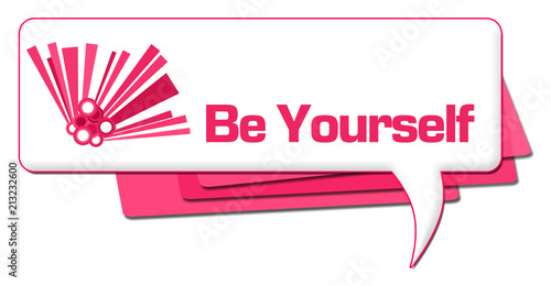 Be Yourself Pink Graphic Comment Symbol