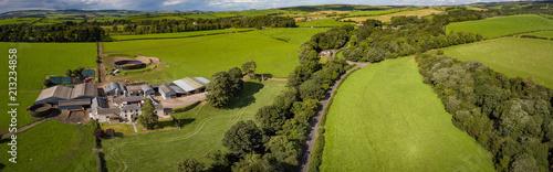 Deurstickers Groene Ayrshire Farming