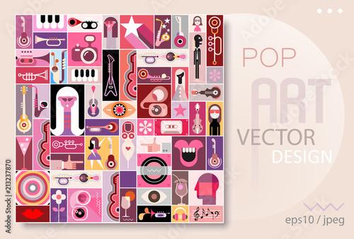 Staande foto Abstractie Art Pop Art Design vector illustration