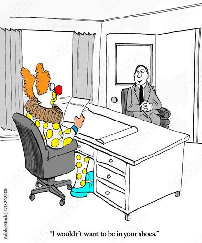 klaun-w-biurze