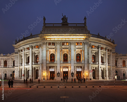 In de dag Theater Burgtheater (Court Theatre) in Vienna. Austria